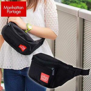 Manhattan Portage マンハッタンポーテージ ウエストポーチ 1101 WAIST BAG メンズ レディース 男女兼用 小さめ スモール かばん カバン 斜めがけバック 鞄 黒 ブラック ショッピング おしゃれ お出掛