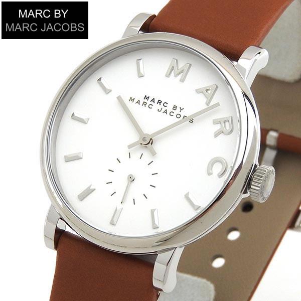 【送料無料】MARC BY MARC JACOBS マークバイマーク ジェイコブス Baker ベイカー MBM1265 海外モデル レディース 腕時計 ウォッチ 白 ホワイト 茶 ブラウン 誕生日プレゼント 女性 ギフト 革ベルト