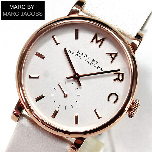 【送料無料】マーク バイ マーク ジェイコブス MARC BY MARC JACOBS MARCJACOBS マークバイマーク MBM1283ベイカー BAKER レディース腕時計 時計 ホワイト 誕生日プレゼント ギフト