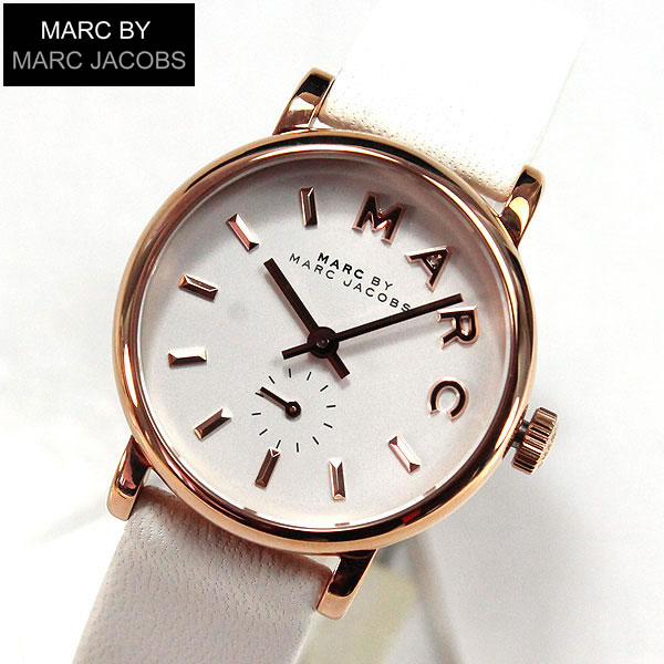 【送料無料】マーク バイ マーク ジェイコブス MARC BY MARC JACOBSスモール ベイカー BAKER MBM1284 レディース 腕時計 ホワイト 白 ピンクゴールド 誕生日プレゼント 女性 ギフト