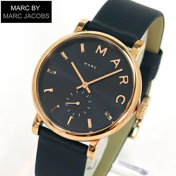 【送料無料】MARC BY MARC JACOBS マークバイマーク ジェイコブス Baker ベイカー 時計 おしゃれ ブランド かわいい mbm1329 海外モデル レディース 腕時計ネイビー 濃紺 革ベルト 誕生日プレゼント 女性 ギフト
