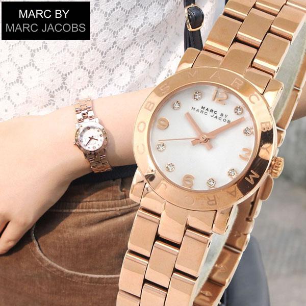 【送料無料】マーク バイ マーク ジェイコブス マークジェイコブス MARC BY MARCJACOBS 時計 おしゃれ ブランド ウォッチ かわいい MBM3078 海外モデル レディース 腕時計 人気のピンクゴールド 白 ホワイト 誕生日プレゼント 女性 ギフト