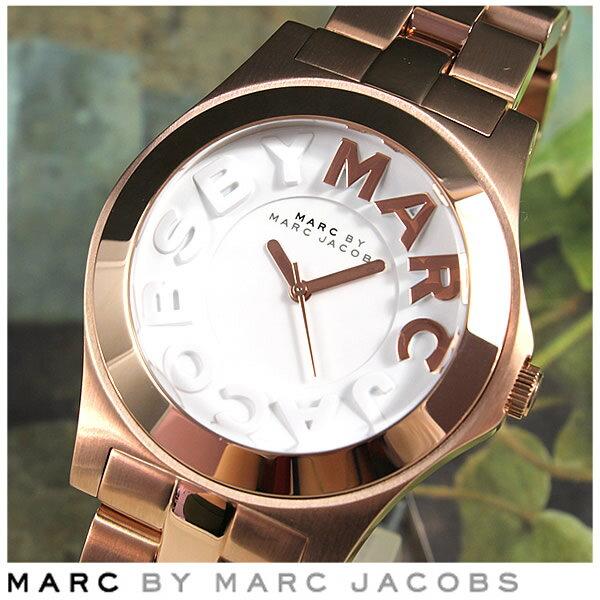 【送料無料】MARC BY MARC JACOBS マーク バイ マーク ジェイコブス MARCJACOBS マークバイマーク【METAL RIVERA】MBM3135メタルリベラ レディース ユニセックス 腕時計時計 ピンクゴールド 誕生日プレゼント 女性 ギフト