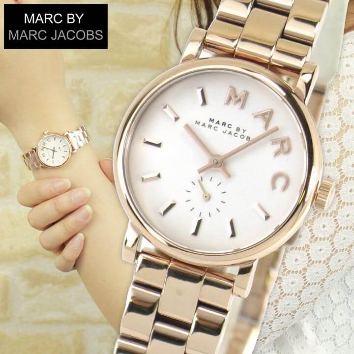 【送料無料】 MARC BY MARC JACOBS マーク バイ マーク ジェイコブス ベイカー Baker 時計 おしゃれ ブランド かわいい MBM3248 海外モデル レディース 腕時計 ローズゴールド 白 ホワイト 誕生日プレゼント 女性 ギフト