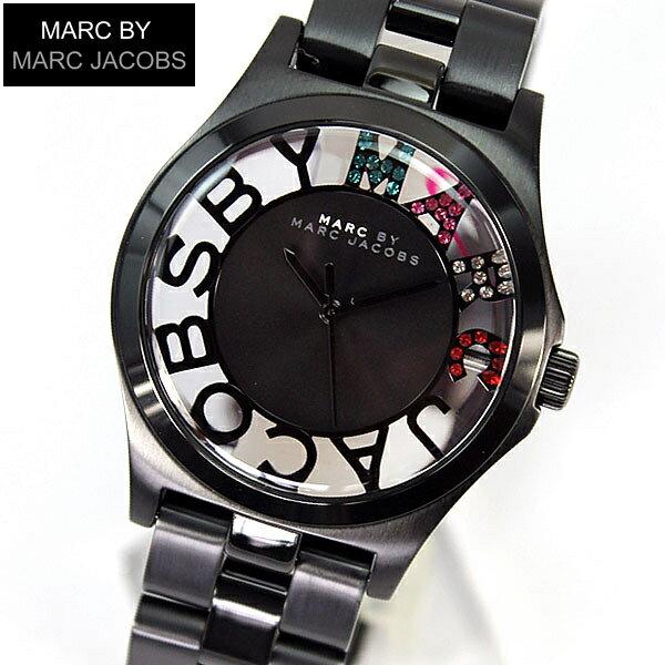 【スーパーセール】【送料無料】マーク バイ マーク ジェイコブス MARC BY MARC JACOBS マークバイマーク Henry Skelton ヘンリー スケルトン クリスタルMBM3265海外モデル レディース 腕時計 時計 IPブラック 黒 メタル マルチカラー 誕生日プレゼント 父の日ギフト