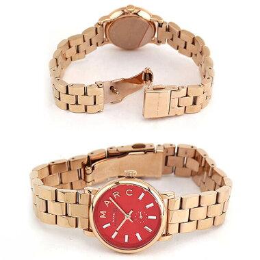 MARCBYMARCJACOBSマークバイマークジェイコブスMBM3347海外モデルレディース腕時計ウォッチメタルバンドクオーツアナログ赤レッド金ピンクゴールド
