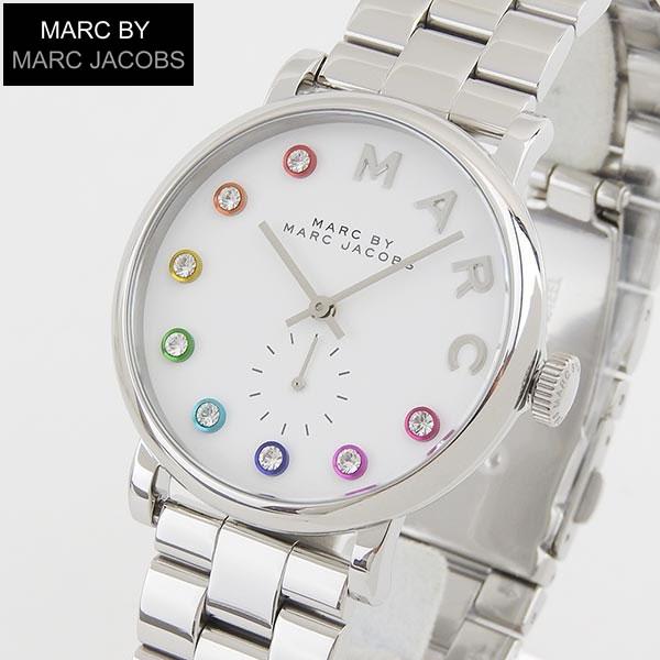 【送料無料】MARC BY MARC JACOBS マークバイマーク ジェイコブス 時計 おしゃれ ブランド かわいい Baker ベイカー MBM3420 海外モデル レディース 腕時計 ウォッチ 白 ホワイト 銀 シルバー 誕生日プレゼント 女性 ギフト