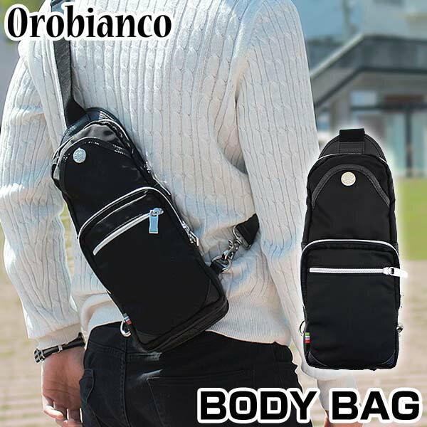 【送料無料】 OROBIANCO オロビアンコ GIACOMIO ジャコミオ ウエストポーチ ウエストバッグ ボディーバッグ ショルダーバッグ カバン かばん 鞄 メンズ 黒 ブラック 海外モデル 誕生日プレゼント ギフト