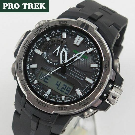 【送料無料】CASIO PRO TREK カシオ プロトレック メンズ 腕時計 時計 タフ ソーラー 電波 ソーラー PRW-6000-1 海外モデル アウトドア 登山 誕生日 ギフト