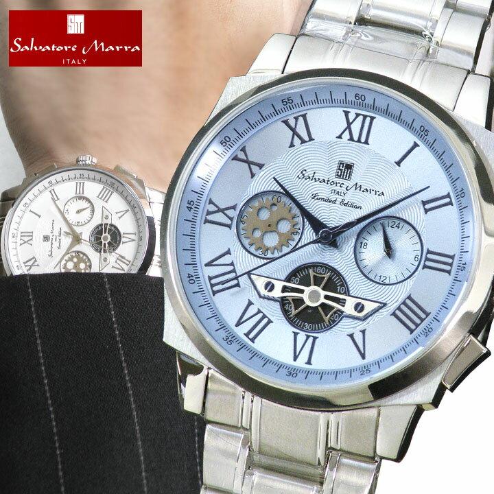 【送料無料】Salvatore Marra サルバトーレマーラ メンズ 腕時計 新品 時計 SM-1201 SM1201 クロノグラフ ギフト プレゼント 腕時計 誕生日プレゼント 男性 ギフト