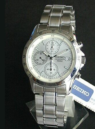 SEIKO セイコー 逆輸入 クロノグラフ メンズ 腕時計時計 タキメーター シルバー SND363P1 SND363PC 正規海外モデル 日本製ムーブメント【あす楽対応】誕生日プレゼント 男性 父の日 ギフト