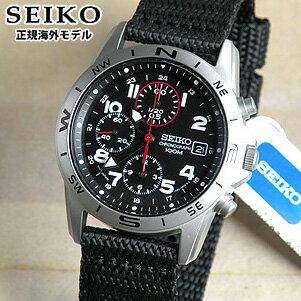 SEIKO セイコー 逆輸入 ミリタリークロノグラフ メンズ 腕時計 SND399P1 正規海外モデル ナイロンベルト 日本製ムーブメント【あす楽対応】誕生日プレゼント 男性 父の日 ギフト