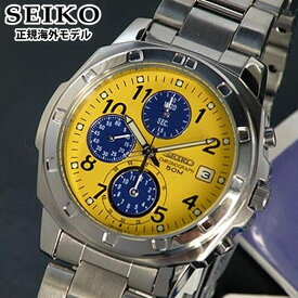 SEIKO セイコー 逆輸入 メンズ 腕時計 クロノグラフ SND409P1 イエロー 正規海外モデル バレンタイン 誕生日プレゼント 男性 彼氏 旦那 夫 社会人 友達 ギフト