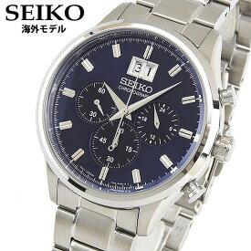 df7d65b8fd 【送料無料】SEIKO セイコー SPC081P1 海外モデル メンズ 腕時計 ウォッチ クロノグラフ 青 ネイビー