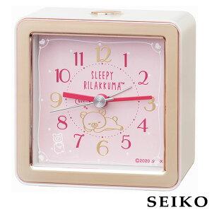 SEIKO セイコークロック 目覚まし時計 キャラクター リラックマ アナログ 電子音 アラーム スヌーズ ライト スイープセコンド ピンク CQ161P キッズ キャラ 卒園祝い 入学祝い 誕生日プレゼント