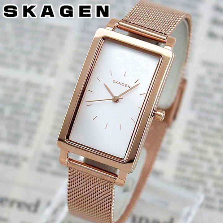 【送料無料】SKAGEN スカーゲン HAGEN ハーゲン SKW2466 海外モデル レディース 腕時計 ウォッチ メタル バンド クオーツ アナログ 金 ピンクゴールド 銀 シルバー 北欧デザイン 誕生日プレゼント 女性 ギフト