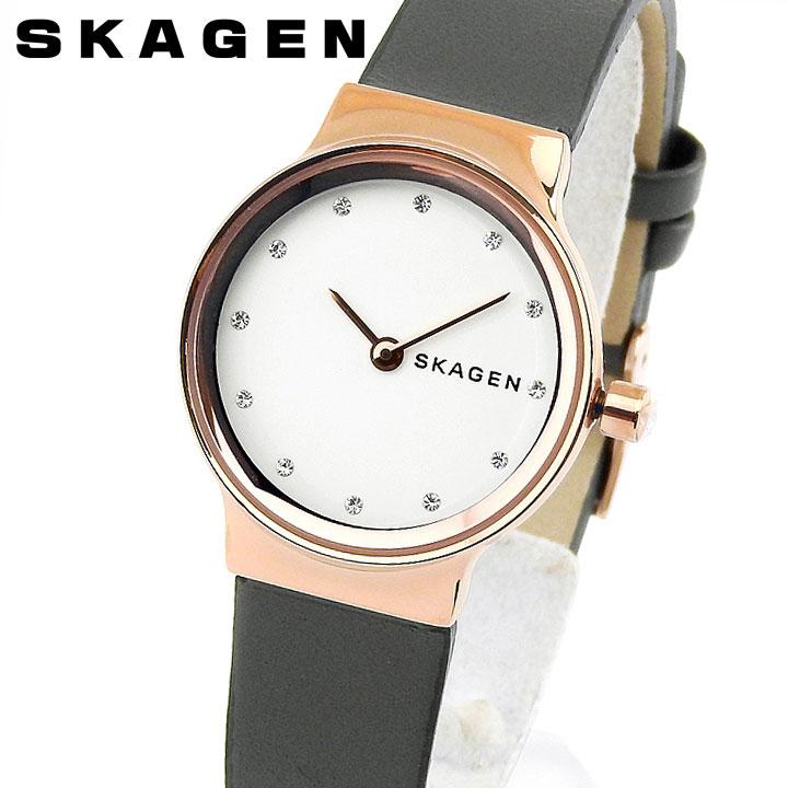 【送料無料】SKAGEN スカーゲン FREJA フレヤ SKW2669 レディース 腕時計 革ベルト レザー 白 ホワイト ピンクゴールド ローズゴールド グレー 誕生日プレゼント 女性 卒業祝い 入学祝い ギフト 海外モデル