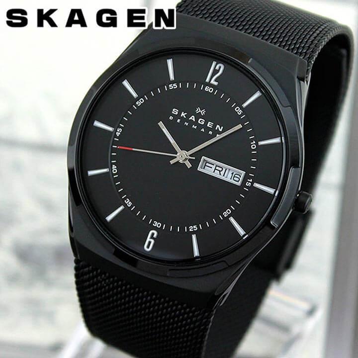 【送料無料】SKAGEN スカーゲン SKW6006 海外モデル メンズ 腕時計 ウォッチ チタン メタル バンド クオーツ アナログ 黒 ブラック スリム 北欧デザイン 誕生日プレゼント 男性 卒業祝い 入学祝い ギフト