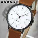 ★送料無料 SKAGEN スカーゲン SKW6216 海外モデル メンズ 腕時計 ウォッチ 革ベルト レザー クオーツ アナログ 銀 シ…