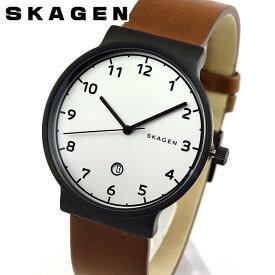 SKAGEN スカーゲン ANCHER アンカー SKW6297 メンズ 腕時計 北欧 革ベルト レザー 黒 ブラック 茶 ブラウン 銀 シルバー 海外モデル 誕生日プレゼント 男性 ギフト