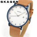 ★送料無料 SKAGEN スカーゲン HAGEN ハーゲン SKW6325 海外モデル メンズ 腕時計 ウォッチ 革バンド レザー クオーツ…