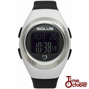 【送料無料】SOLUS Leisure 800 ソーラス 多機能 運動 ダイエット 腕時計 レディース メンズ 時計 01-800-205 ホワイト×ブラック ランニング スポーツ 健康 トレーニング ウォーキング誕生日プレゼント 男性 女性 ギフト