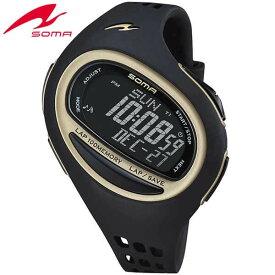 SOMA ソーマ RUNONE ランワン 100SL DWJ08-0001 ブラック LARGE ラージサイズ ジョギング ウォーキング マラソン ラップ 腕時計時計 ランニング スポーツスポーツ 誕生日プレゼント ギフト 商品到着後レビューを書いて7年保証