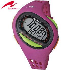 SOMA ソーマ RUNONE ランワン 100SL DWJ09-0003 マゼンタ MIDIUM ミディアムサイズ ジョギング ウォーキング マラソン ラップ 腕時計時計 ランニング スポーツスポーツ 誕生日プレゼント ギフト 商品到着後レビューを書いて7年保証