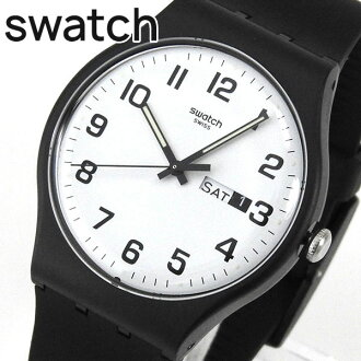 ★ SWATCH Swatch SUOB705 TWICE AGAIN二韋斯·ageinyunisekkusumenzuredisu手錶黑色白黑白