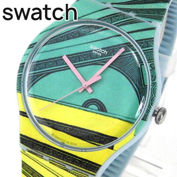 【送料無料】SWATCH スウォッチ NEW GENT MONEY HONEY ニュージェント マネーハニー SUOG107 ユニセックス メンズ レディース 腕時計誕生日プレゼント 男性 女性 ギフト