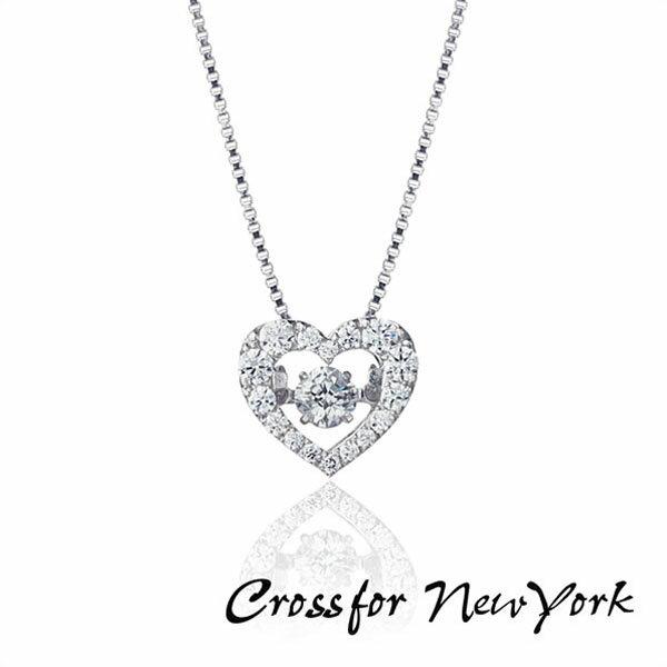 【送料無料】Crossfor New York クロスフォーニューヨーク ダンシングストーン ネックレス ハート ペンダント レディース NYP-540 キュービックジルコニア シルバー925 人気 誕生日プレゼント 女性 ギフト