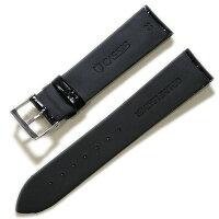 【カシス】MULHOUSE(ミュールズ)数量限定品型押し20mmブラック(裏ラバー)時計ベルト