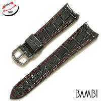 【バンビ】ロレックス対応Rコレクションクロコダイルショートサイズ時計ベルト時計バンド