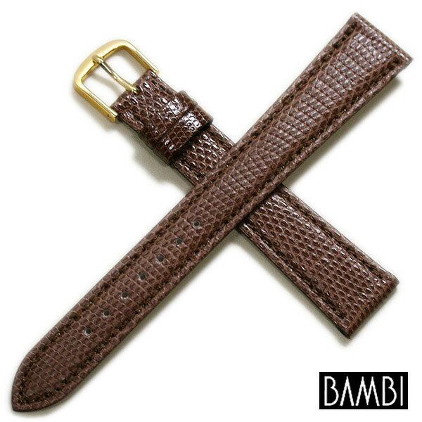 【バンビ】リザード ロングサイズ チョコ 時計ベルト