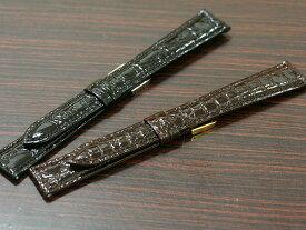 【バンビ】カイマン ロングサイズ ブラック/ブラウン 時計ベルト