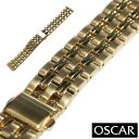 【バンビ】OSCAR オスカー メタルブレス ゴールド 金属ベルト 時計ベルト 時計バンド