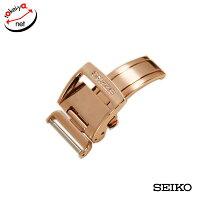 【SEIKO】セイコー片開きプッシュ式Dバックルピンクゴールド18mm純正Dバックル
