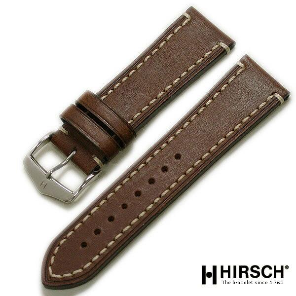 【ヒルシュ】Liberty リバティ カーフ ブラック/ブラウン ロングサイズ 時計ベルト 時計バンド