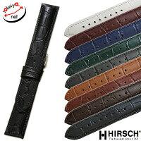 【ヒルシュ】DUKEデューク型押しホワイト/ブラック/ブラウン/ワイン/グリーン/ブルー/グレー時計ベルト時計バンド