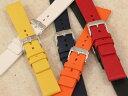 【ヒルシュ】PURE ピュア ラバー ブラック/ブルー/オレンジ 時計ベルト 時計バンド