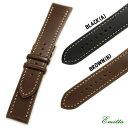 【ミモザ】Emitta エミッタ ブッテーロ(手縫い) カーフ 時計ベルト 時計バンド ブラック/ブラウン