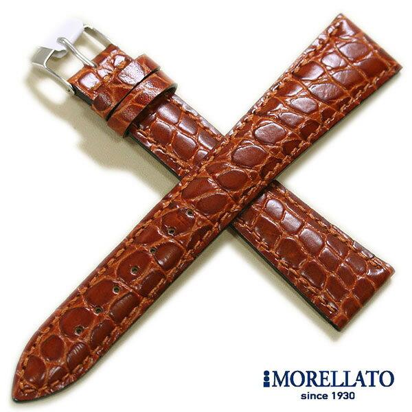 【モレラート】LIVERPOOL リバプール 型押し ロングサイズ ブラウン 時計ベルト 時計バンド
