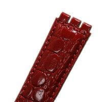 【モレラート】HILTON(ヒルトン)スウォッチ用型押しレッド17mm【時計ベルト時計屋ネット】