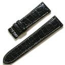 【時計屋ネット】匠・マットクロコダイル ショートサイズ ブラック 時計ベルト 時計バンド