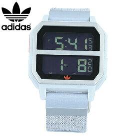 adidas / アディダス Z16-3199 ARCHIVE_R2 NITE JOGGER アーカイブ 腕時計 デジタル メンズ グレー オレンジ ナイロン 母の日 【あす楽対応_東海】