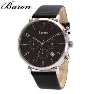 BARON/Baron BR-MJ001手表/皮革皮带/人/黑色