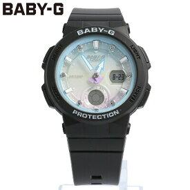 CASIO カシオ Baby-G ベビージー ベビーG 腕時計 時計 レディース アナログ デジタル アナデジ ベーシックモデル 防水 カジュアル アウトドア スポーツ ブラック 黒 ブルー 青 グラデーション BGA-250-1A2 プレゼント ギフト 1年保証 送料無料