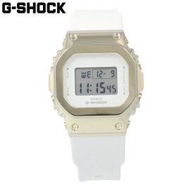 CASIO カシオ G-SHOCK ジーショック Gショック 腕時計 時計 メンズ デジタル スクエア メタル ケース Sシリーズ 防水 カジュアル アウトドア スポーツ ホワイト 白 シルバー 銀 GM-S5600G-7 プレゼント ギフト 1年保証 送料無料