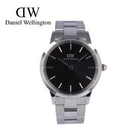 DANIEL WELLINGTON ダニエルウェリントン DW ICONIC LINK腕時計 時計 メンズ クオーツ アナログ 2針 ステンレス メタル シルバー ブラック DW00100342プレゼント ギフト 1年保証 送料無料