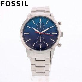 FOSSIL フォッシル 腕時計 時計 メンズ 男性 アナログ クオーツ 電池 クロノグラフ TOWNSMAN タウンズマン カジュアル ビジネス 仕事 就活 防水 ステンレス メタル ブレス シルバー 銀 ブルー 青 グラデーション FS5434 プレゼント ギフト 1年保証 送料無料